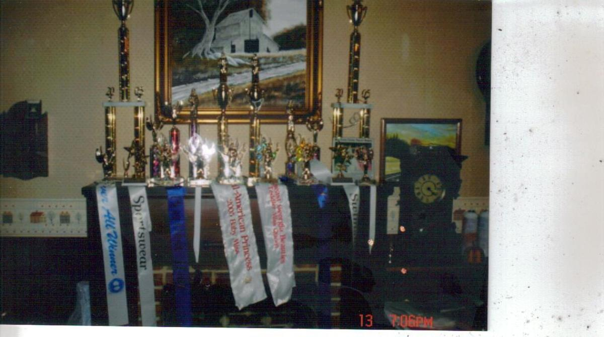 a few of Lexi's trophies