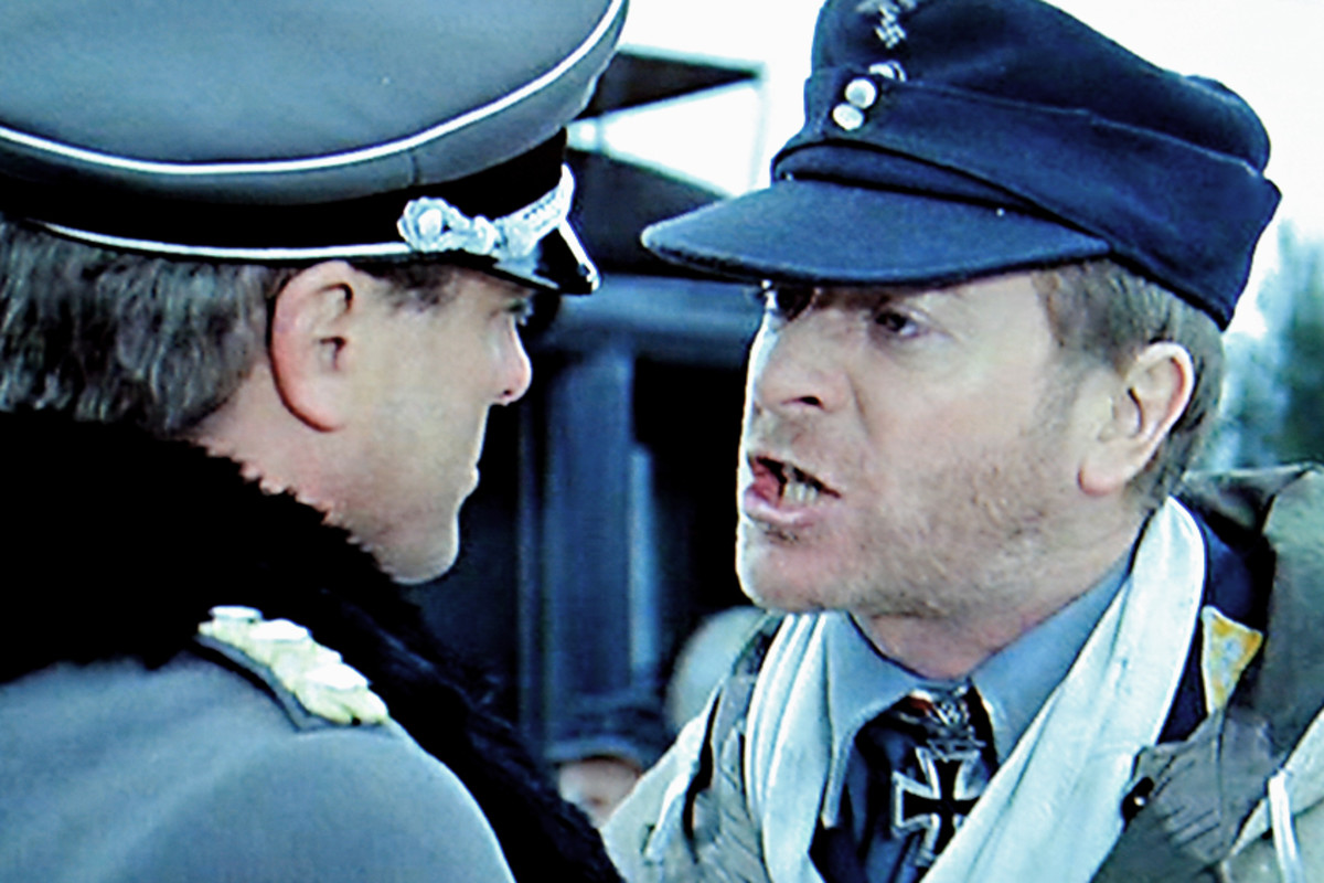 And Colonel Steiner (Michael Caine) unwittingly sets in train the course of events which lead to him commanding the mission, when he argues with a Nazi General over Jewish deportation