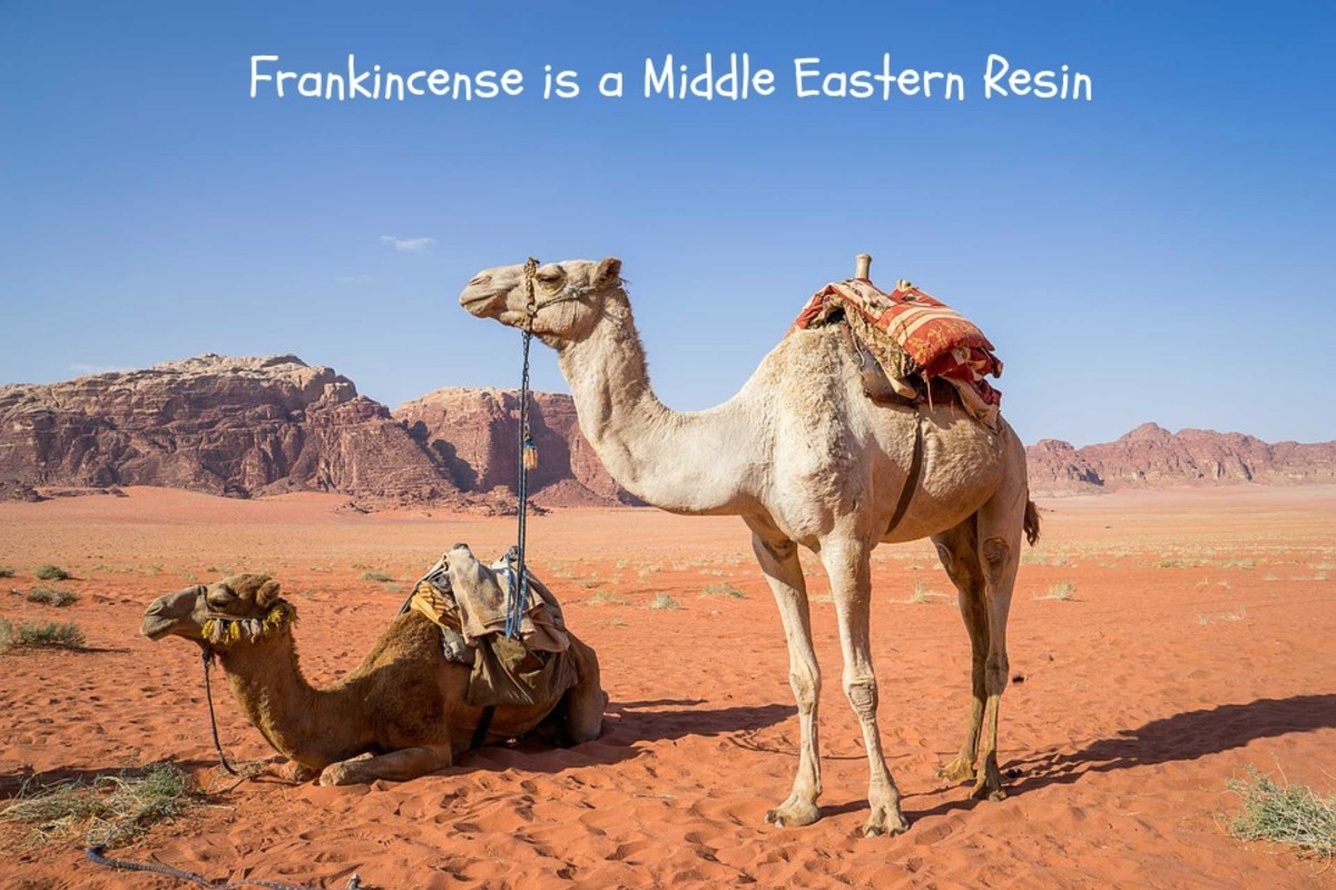 Frankincense is a Middle Eastern resin.