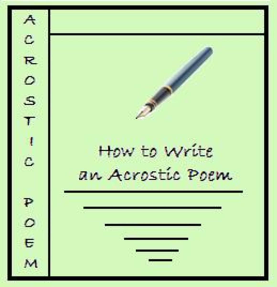 Acrostic Poems