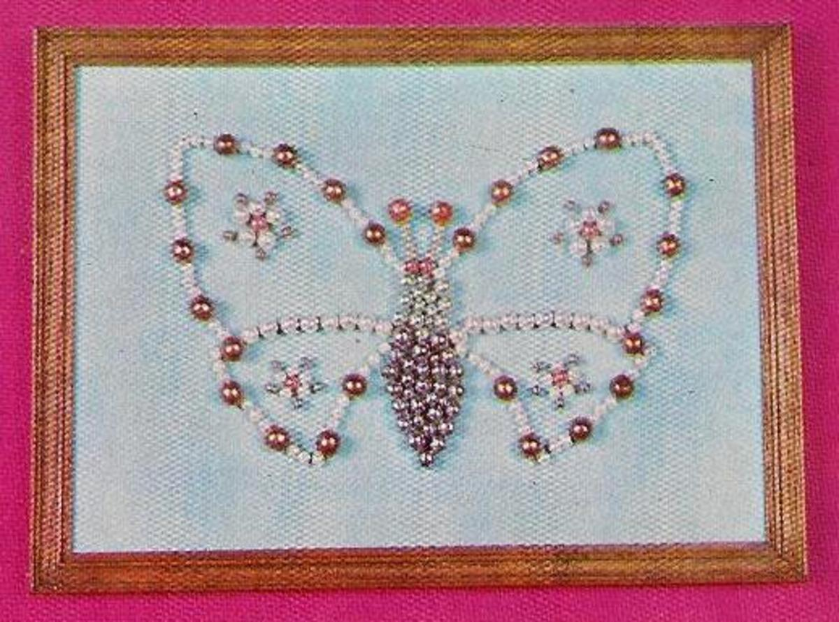 Beaded Butterfly Picture