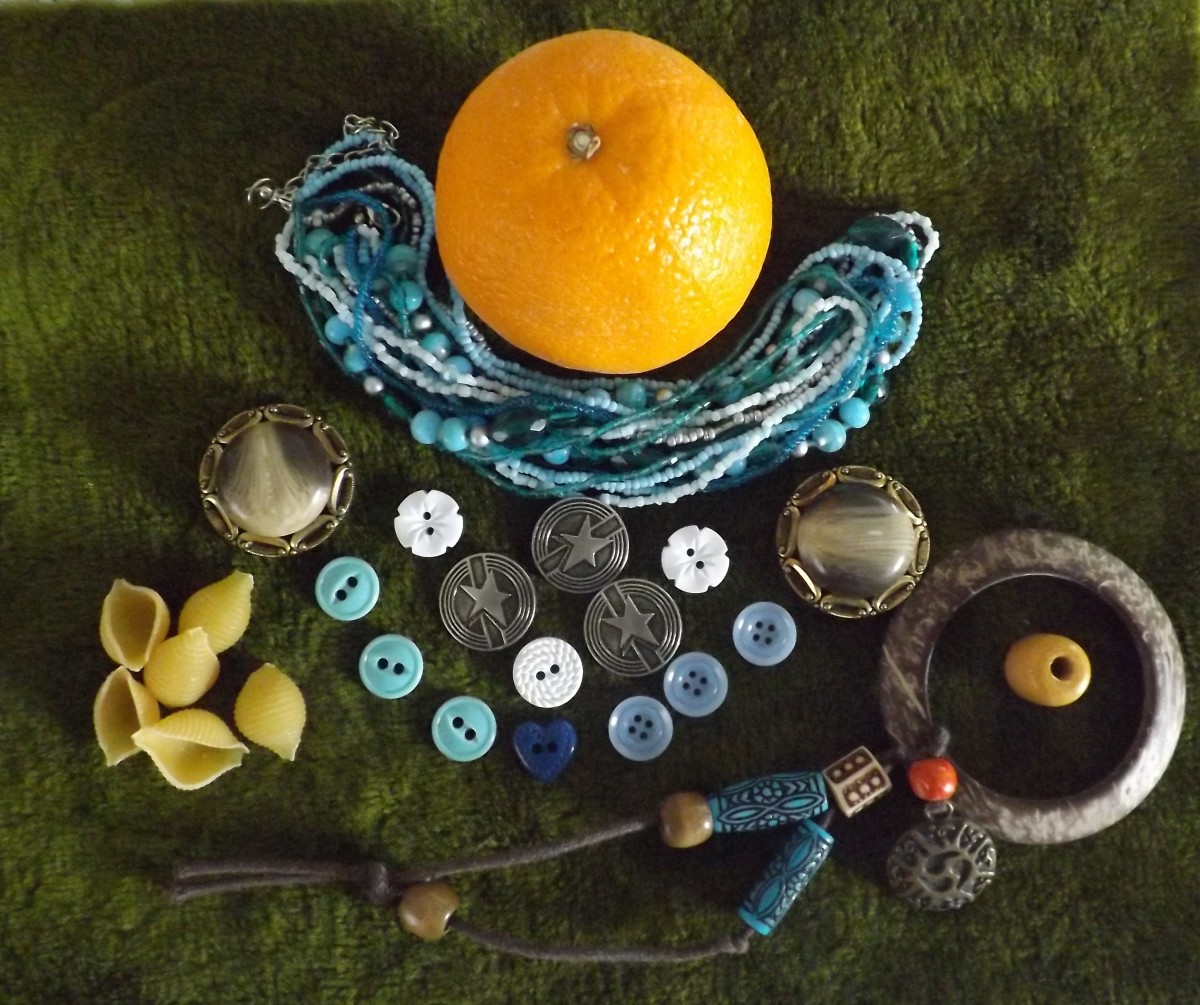 Crafts for Baubles, Bangles and Beads & How to Make Orange Peel Jewelry & Pasta Jewelry