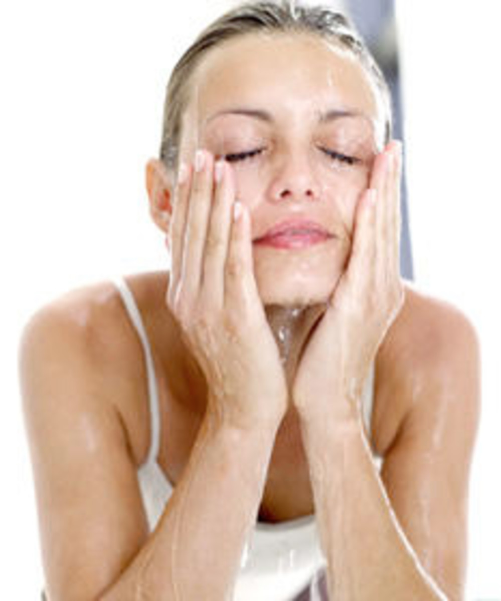 Rinse your face with warm water and remove all traces of face cleanser lotion.