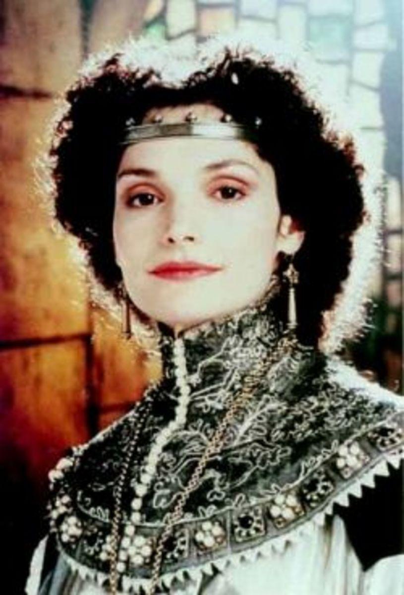 Mary Elizabeth Mastrantonio as Lady Marian from Robin Hood; Prince of Thieves