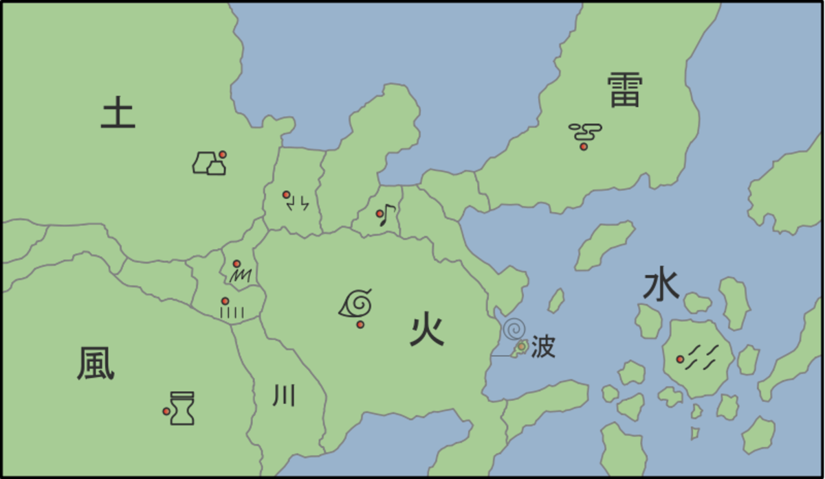 A map to the world of Naruto