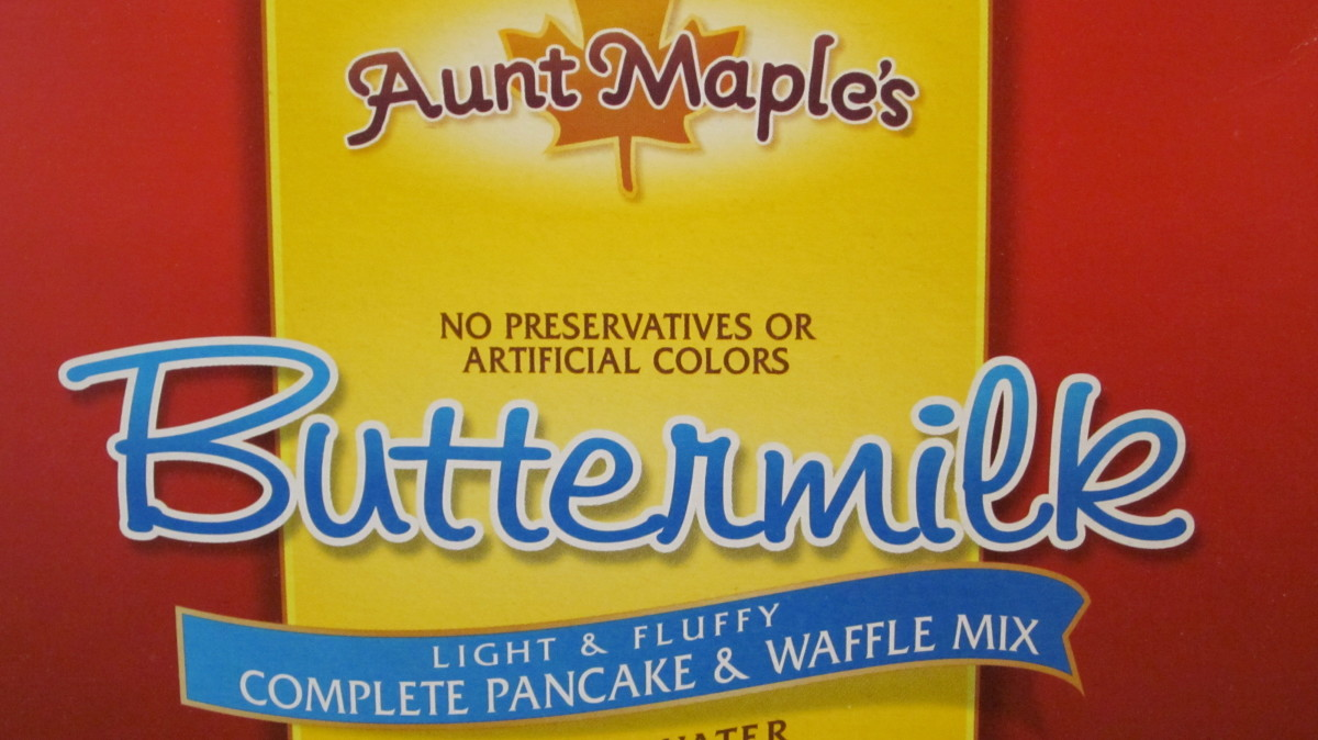 Aunt Who? Aunt Maple's Pancake Mix at $1.59 tastes as good as Krusteaz Retail Price $2.49