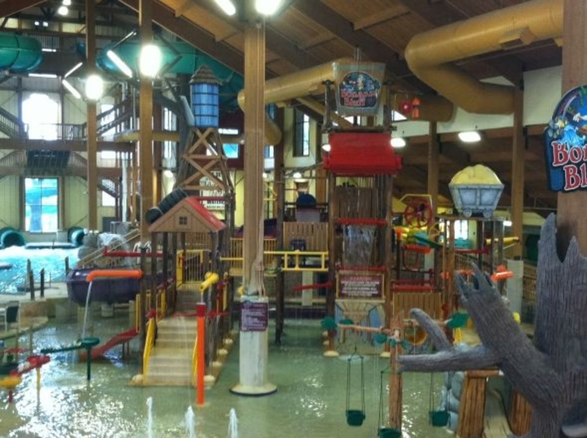 The waterparks are huge!