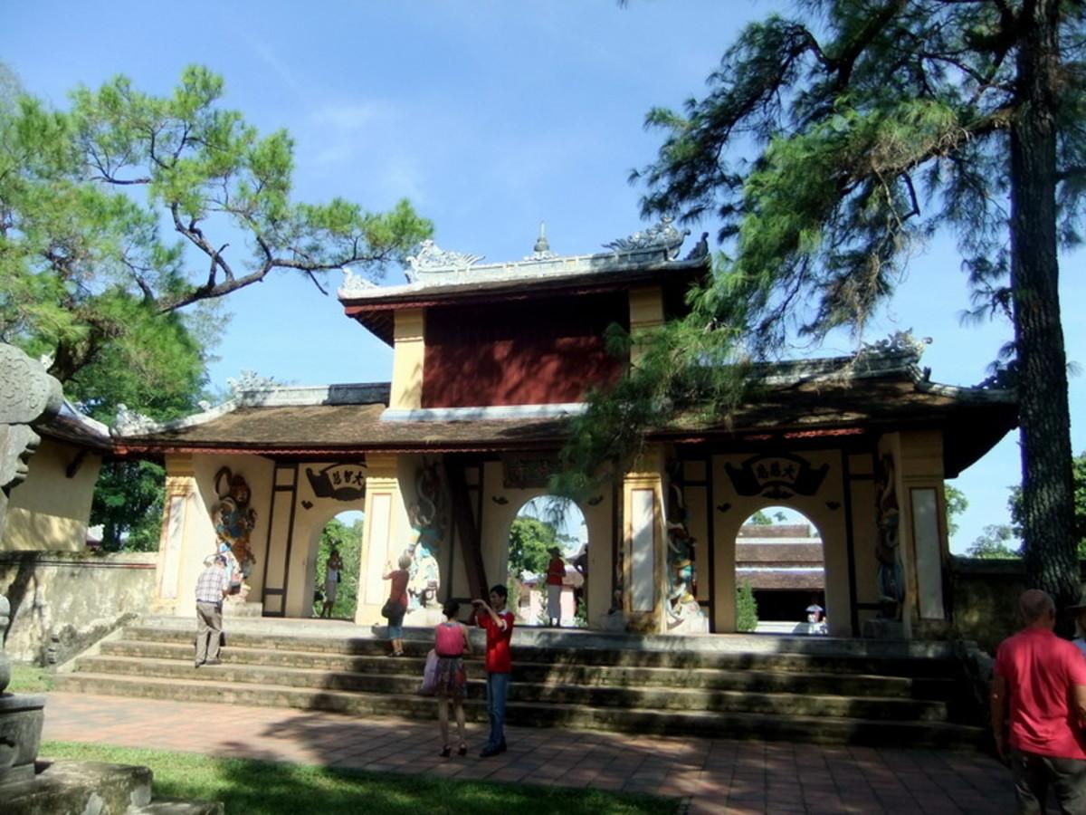 Inside Thien Mu Pagoda's sprawling compound