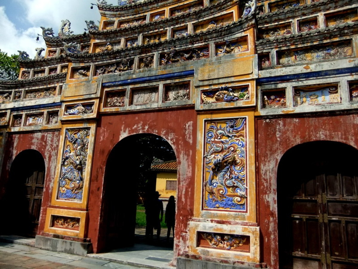 One of the ornamental gate to the courtyard within the Imperial Citadel in Hue