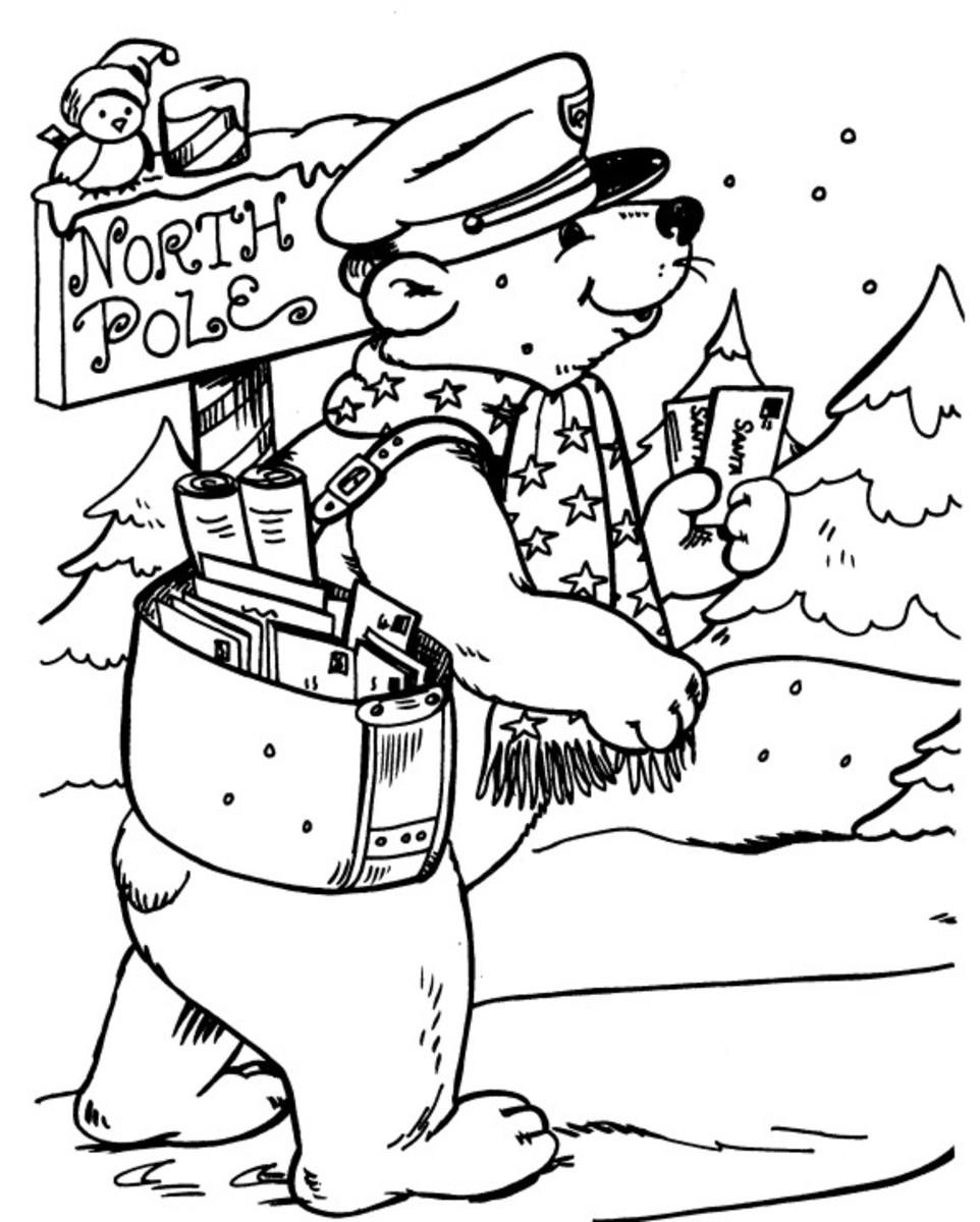 North Pole Printables Coloring