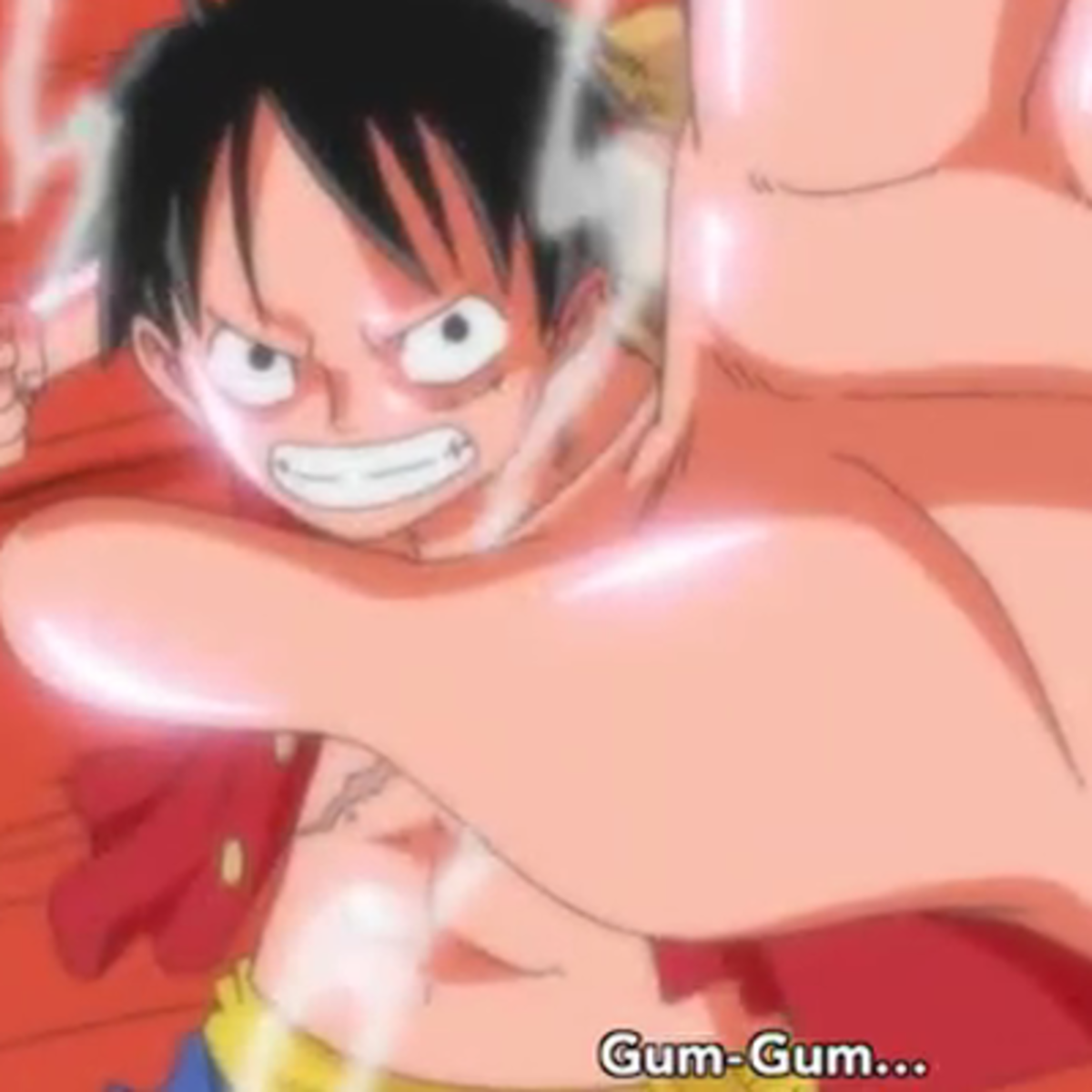 Luffy's furious punches