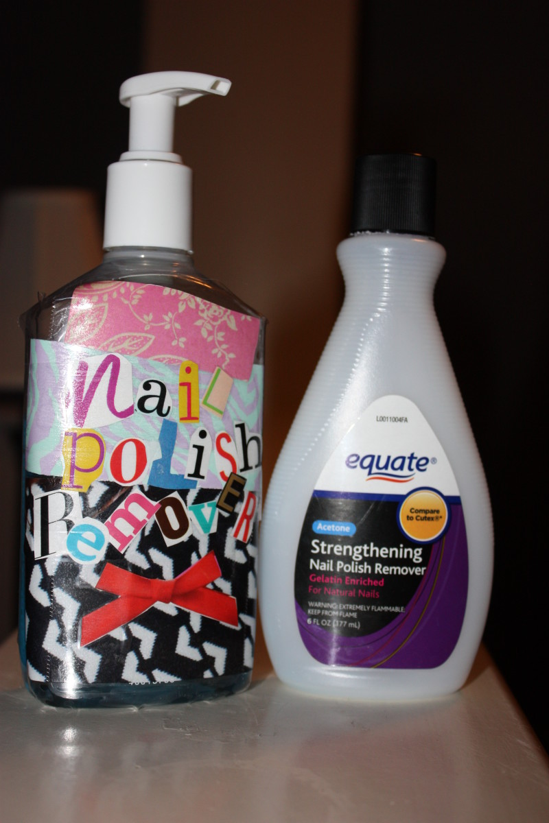 Your new cute and practical nail polish remover container! Yay!
