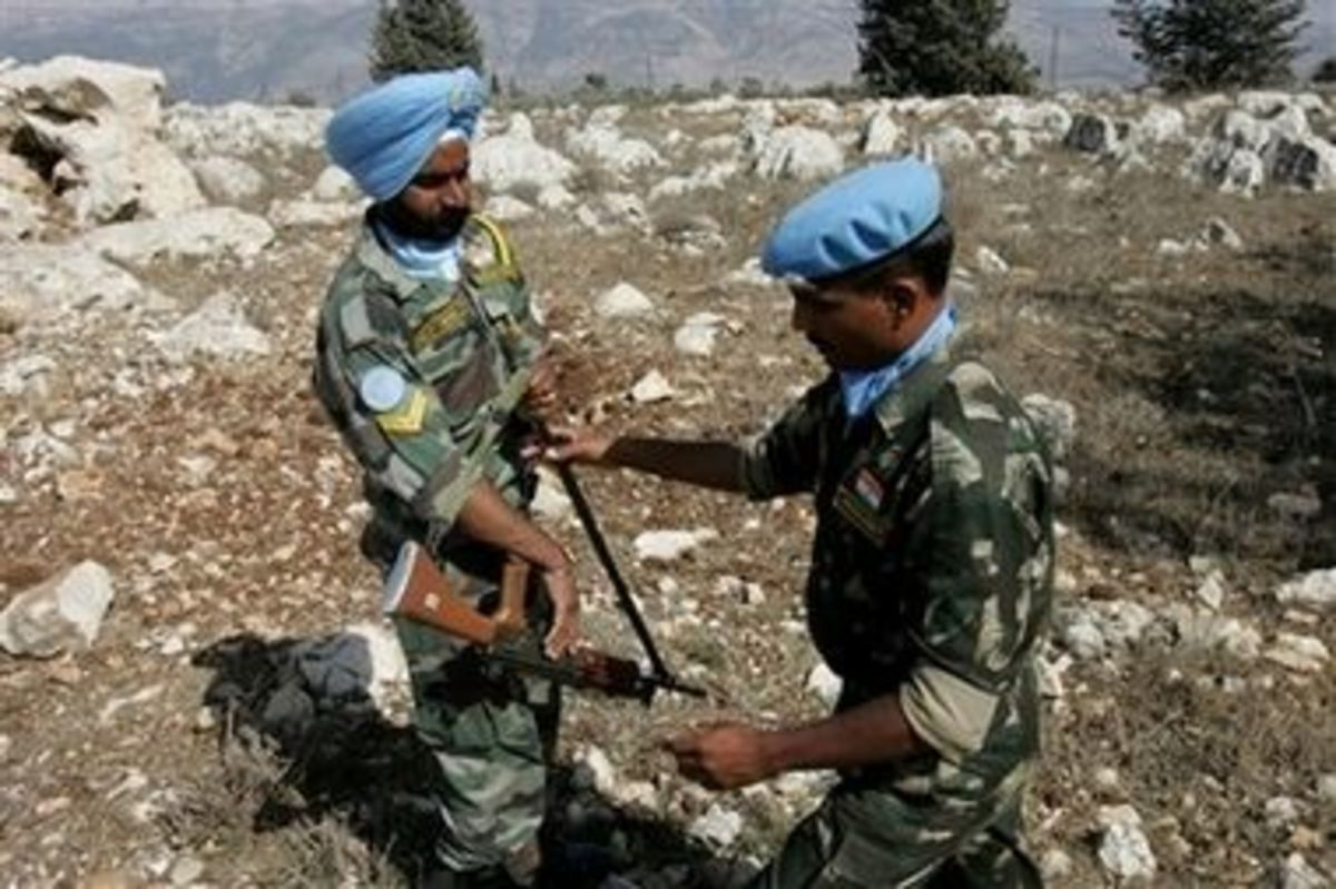 The United Nations peacekeepers are noted for their distinctive blue helmets, berets and in some cases, turbans.