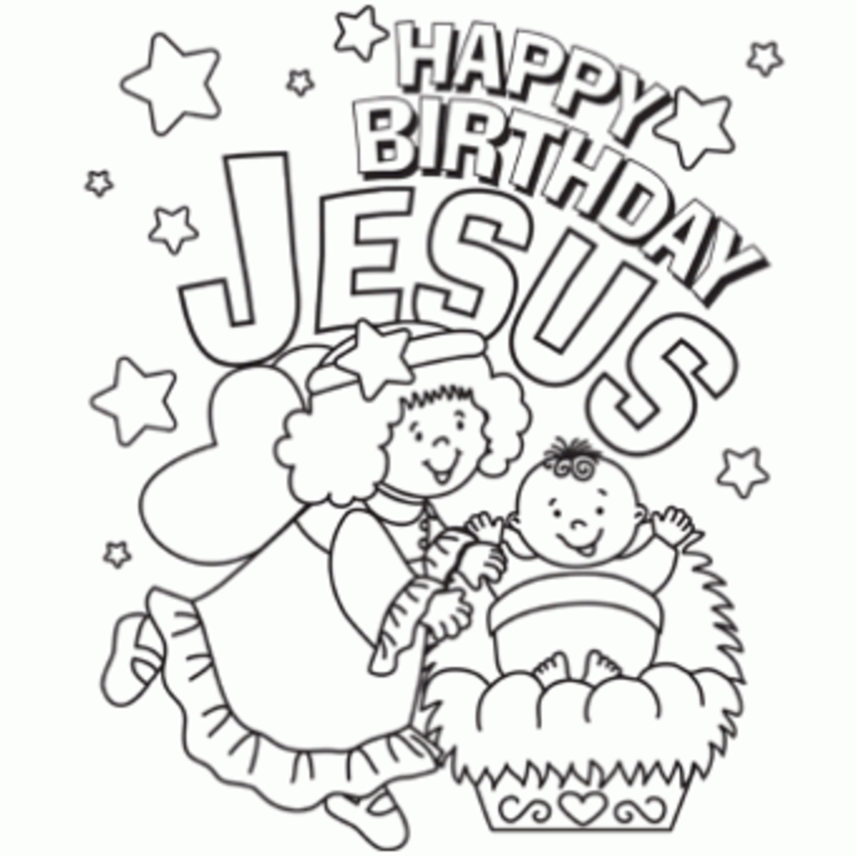 """Happy Birthday Jesus"""" Printable"""