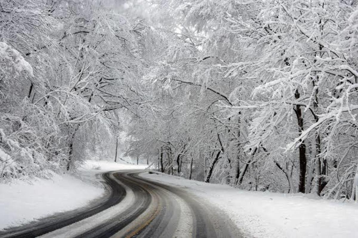 Snowfall during the winter season