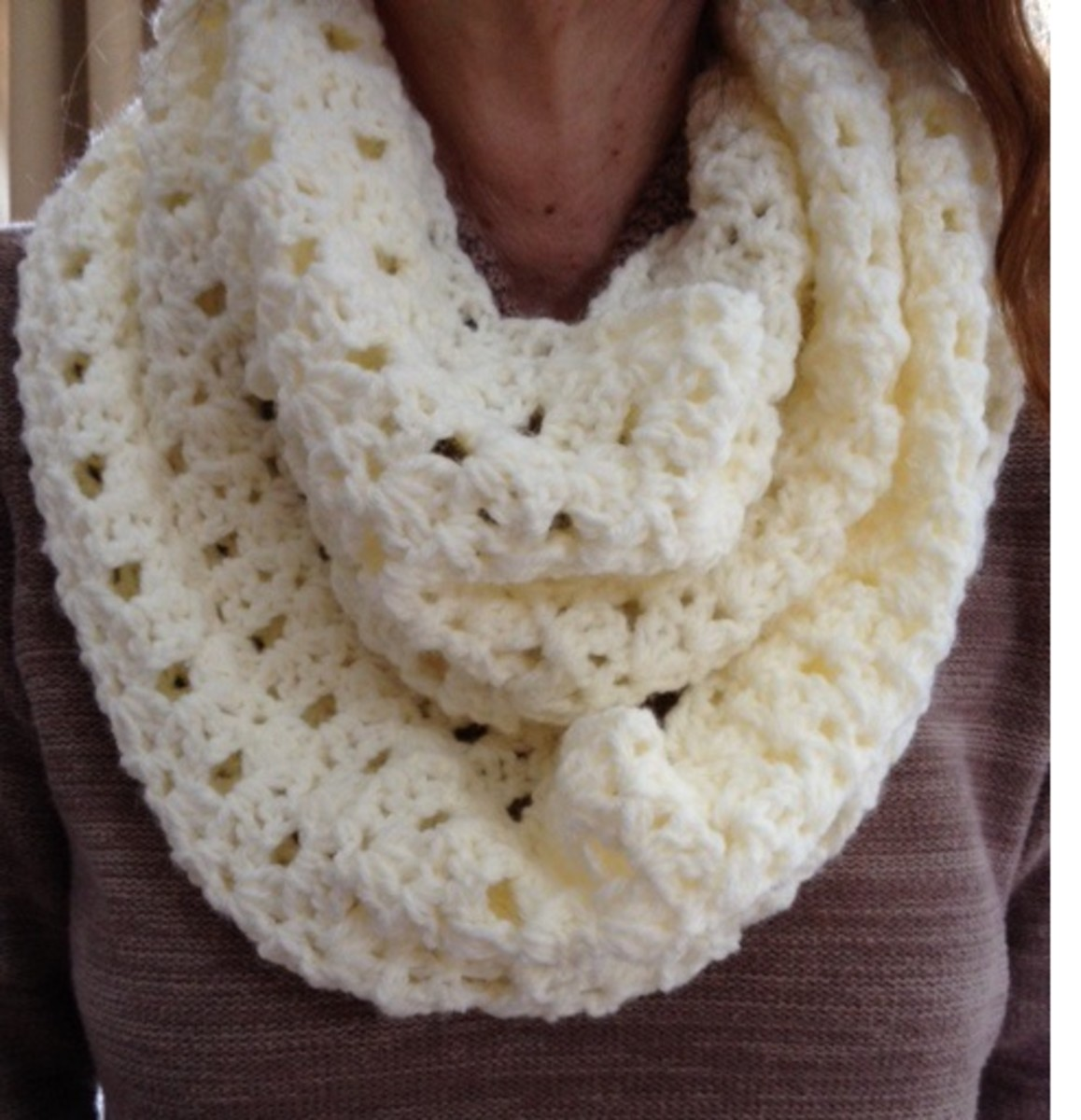Free Crochet Infinity Scarf Patterns HubPages Enchanting Crochet Infinity Scarf Pattern In The Round