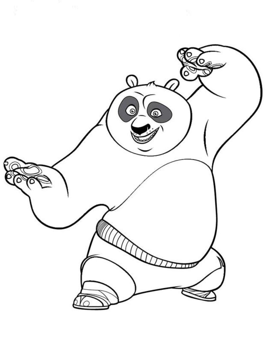kung fu panda printable coloring page