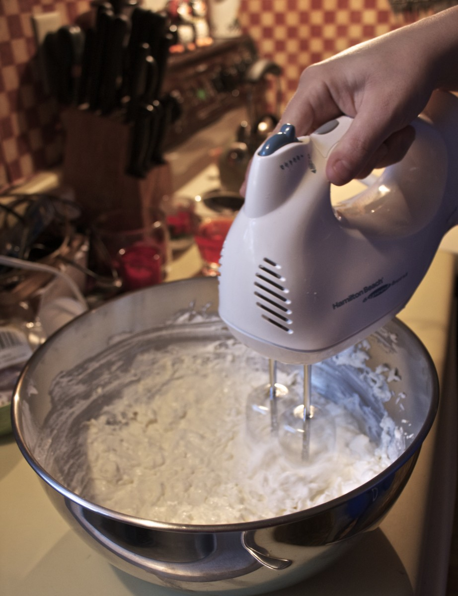 Switch to Mixer, mix until creamy.
