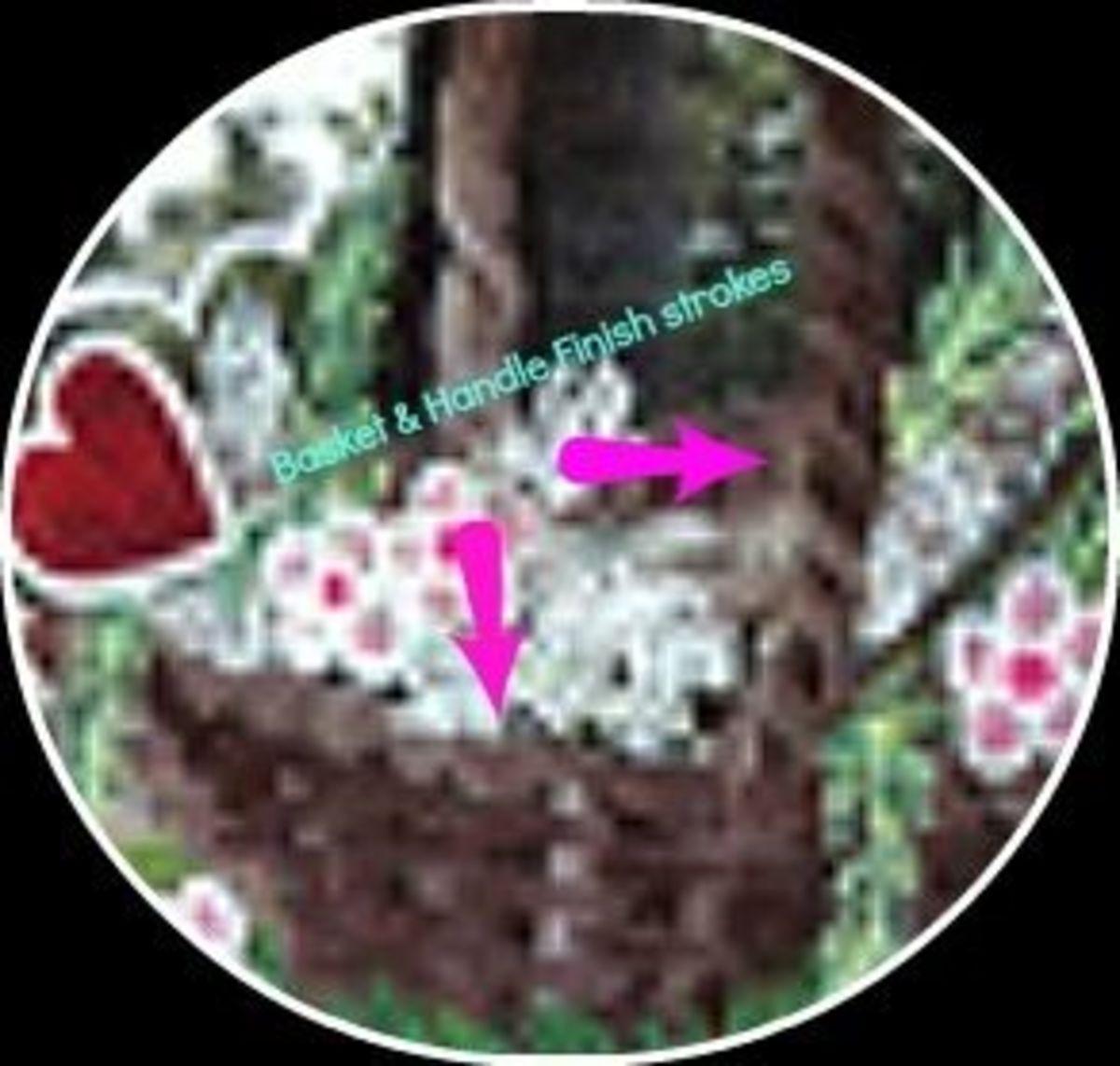Valentine's Day Basket Window Painting - Image M Burgess