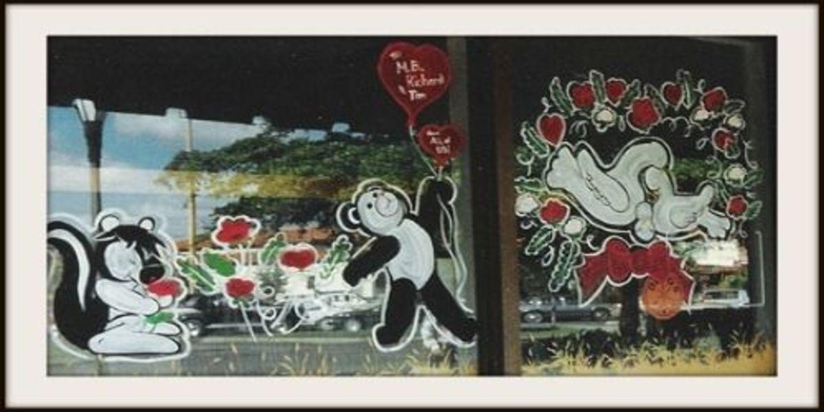 Shunk - Panda - Doves - Valentine's Day Window Design ~ Image: M Burgess