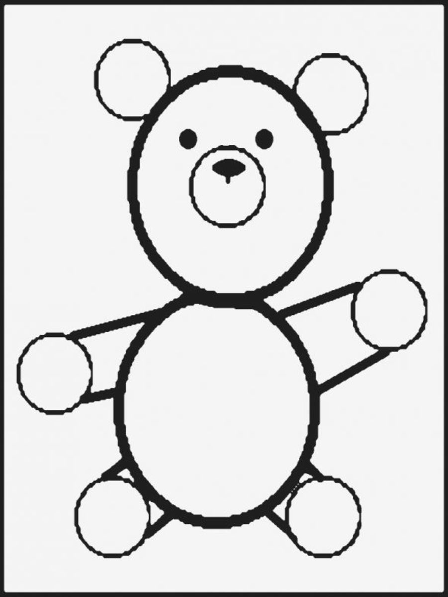teddy bear pattern for Valentine's Day Window Painting - Image: M Burgess
