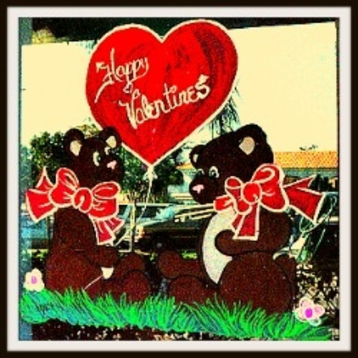 Paintings for Valentine's Day 1989. Image enhanced to improve viewing quality.