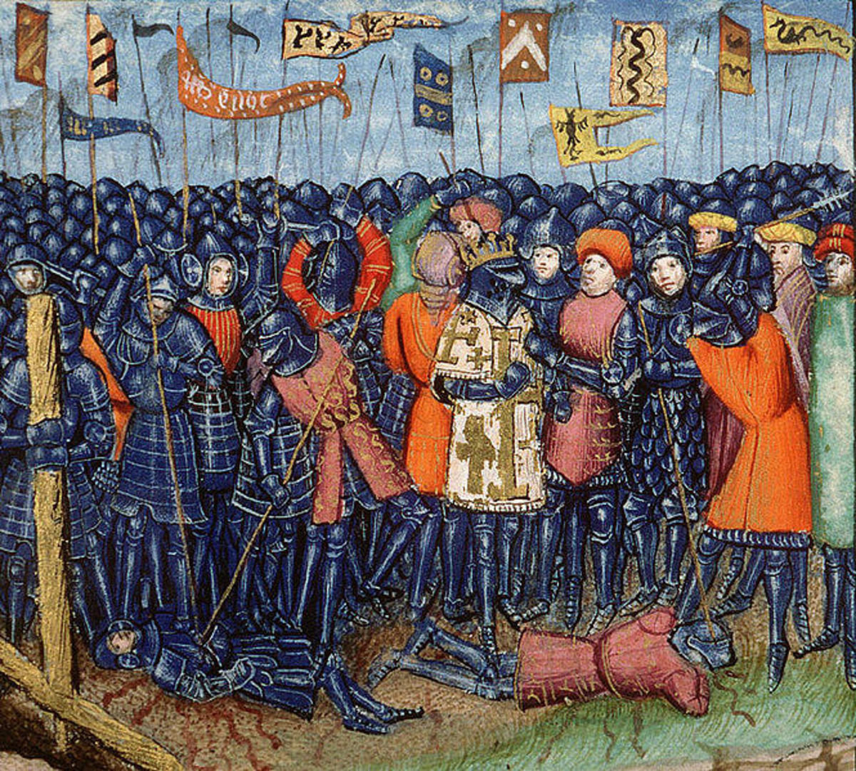 An illustration of the Battle of Hattin dating from the 15th century.
