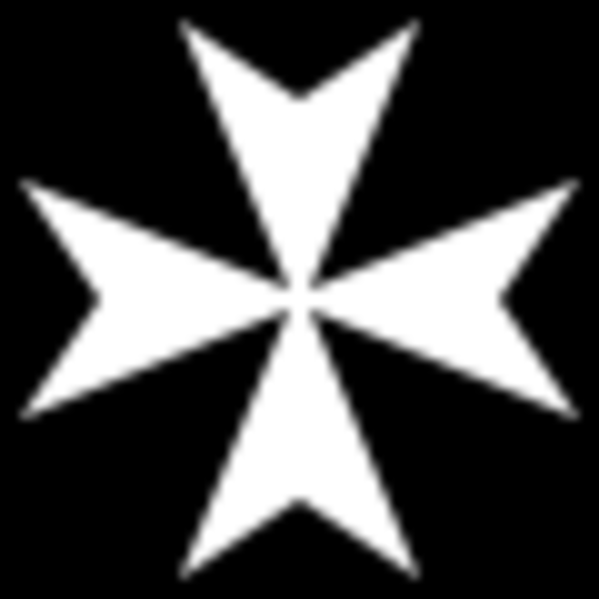 The equally famous emblem of the Knights Hospitaller.