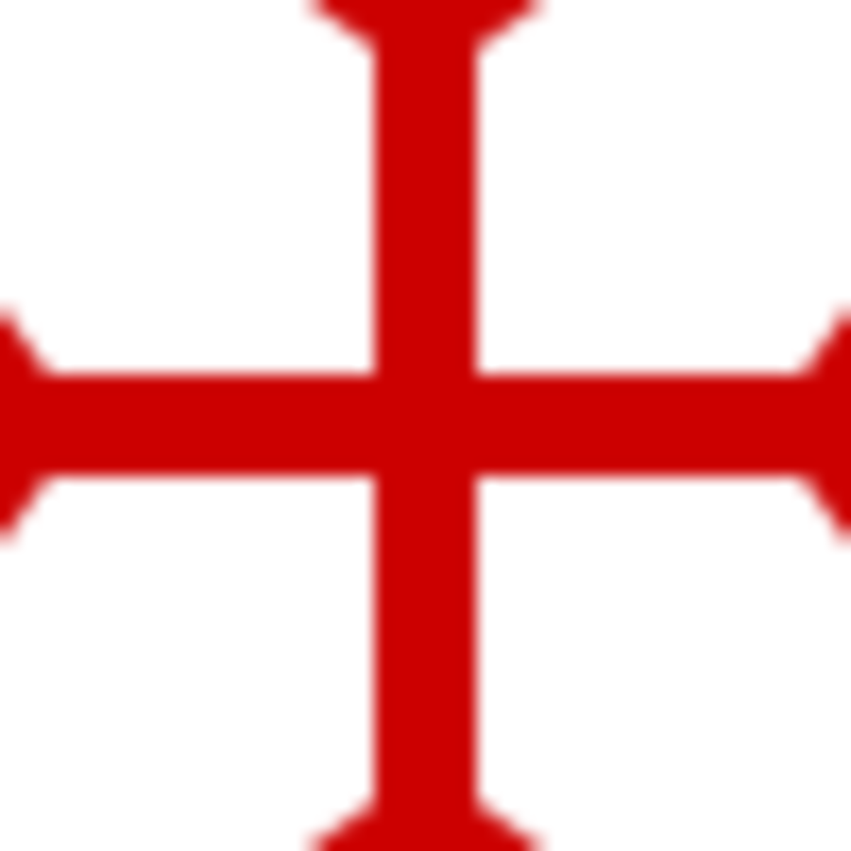 The famous emblem of the Knights Templar