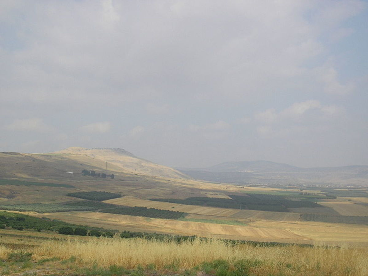 This is the battlefield site, which nowadays is part of Israel.