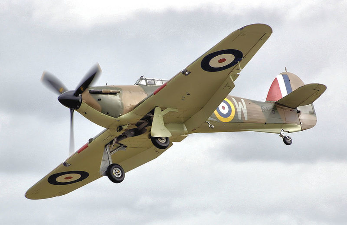This is a Hawker Hurricane MK I, the model that flew in the Battle of Britain, which still flies today.