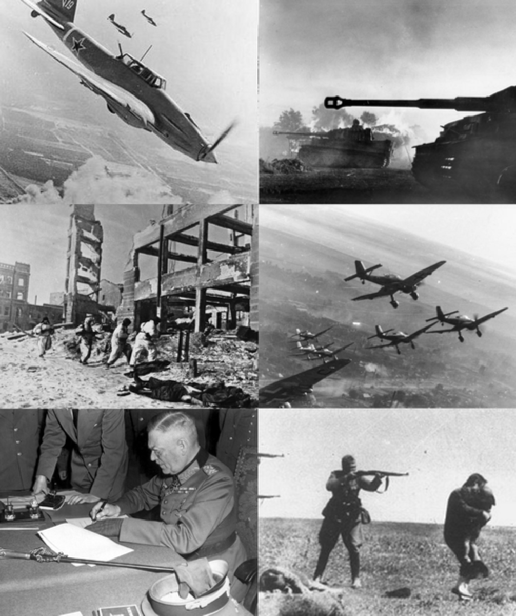 These images are all of the Eastern Front in World War II- the largest conflict in human history, spread over an area covering thousands of square miles and costing the lives of tens of millions of people.