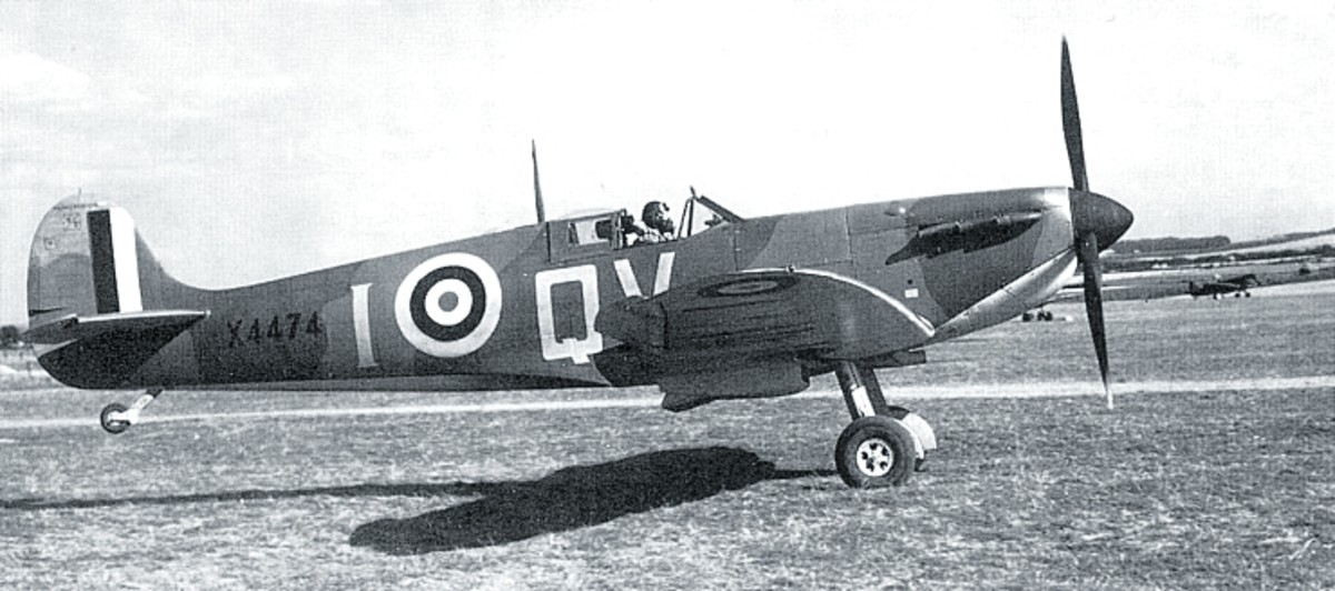While the Hurricanes mostly dealt with the bombers, the faster Spitfire took on the fighters.