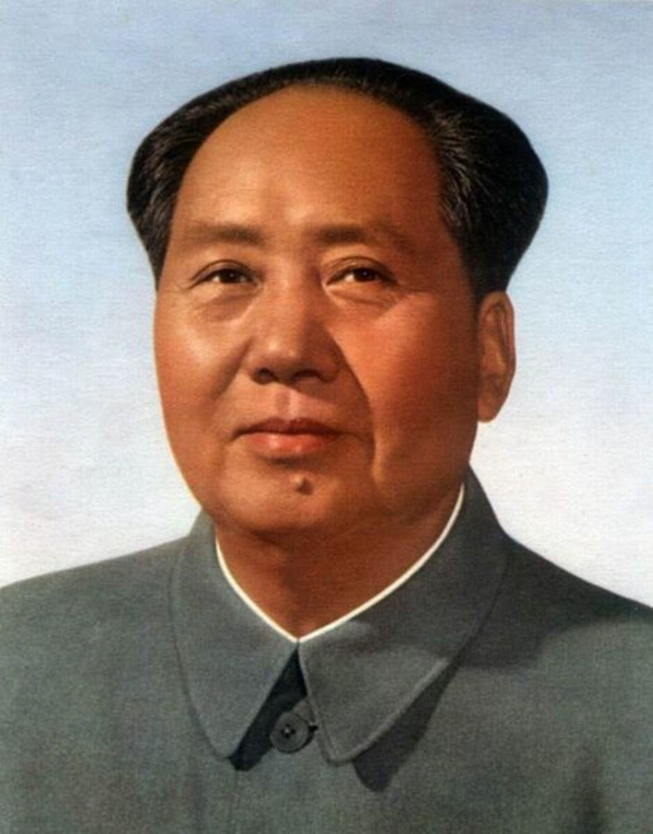 This is the official portrait of Mao at Tiananmen Gate. Mao credited the Japanese for indirectly allowing him to seize power in China in 1949.