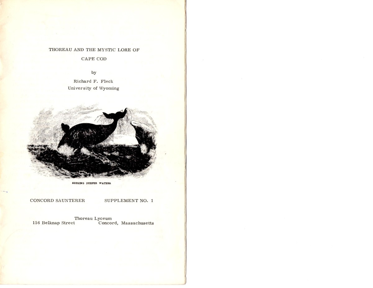 Original booklet cover published by the Thoreau Lyceum in 1974