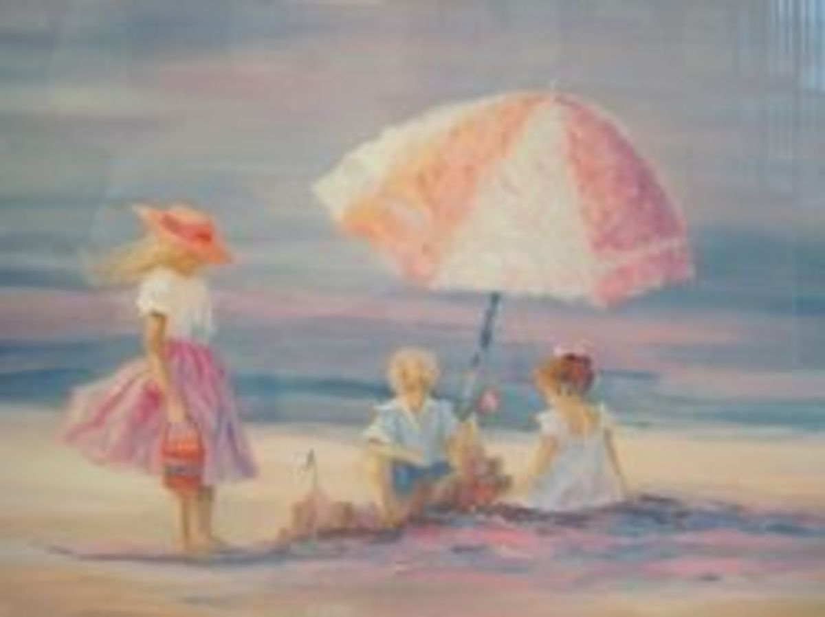 Picnic at the Beach by Nora Debolt