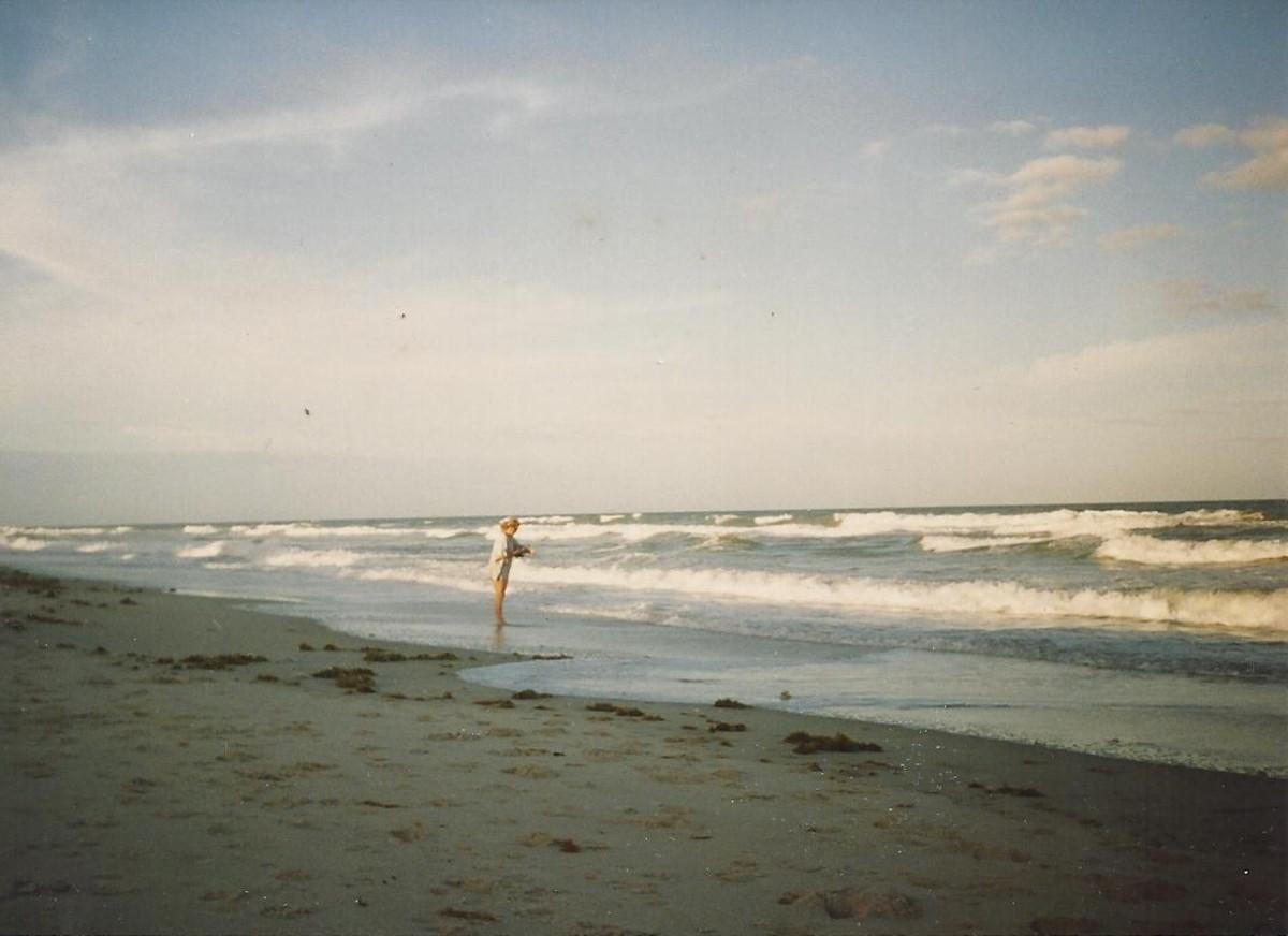 Having fun surf fishing in Brevard County Florida