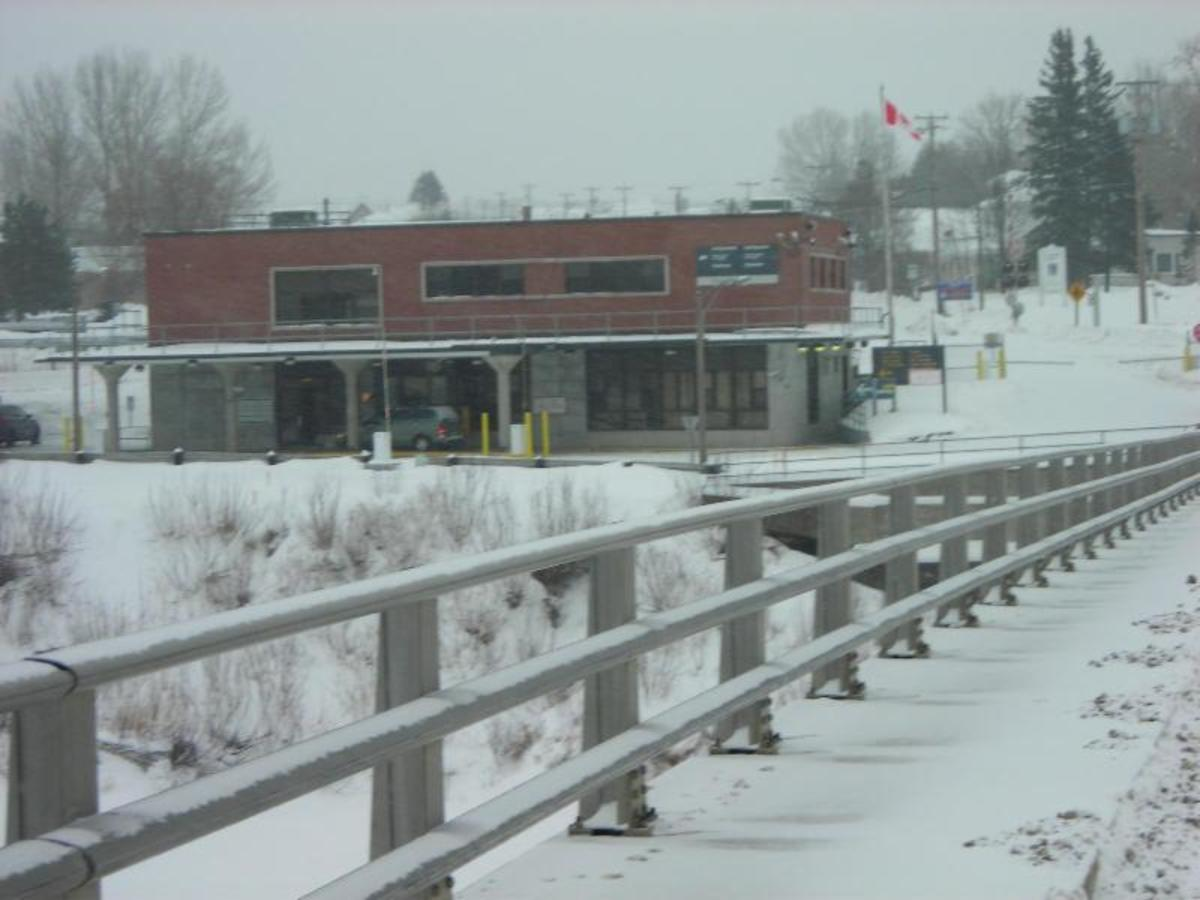 This is a picture from the old bridge into Canada in Van Buren, ME