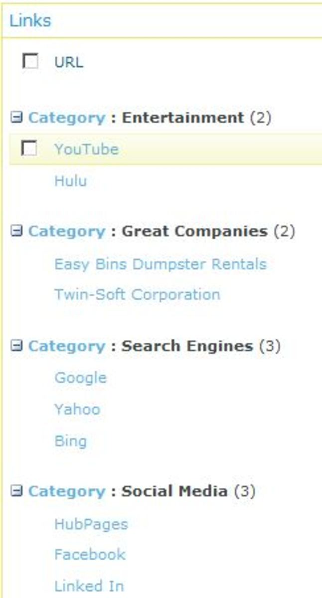 Categorize your links,  and then have a custom sort order.