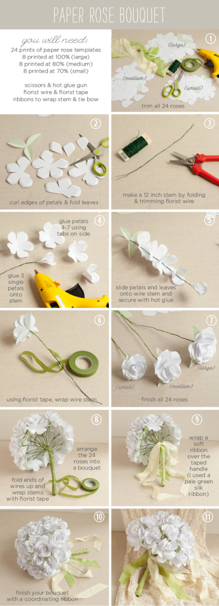 Paper Wedding Boquet