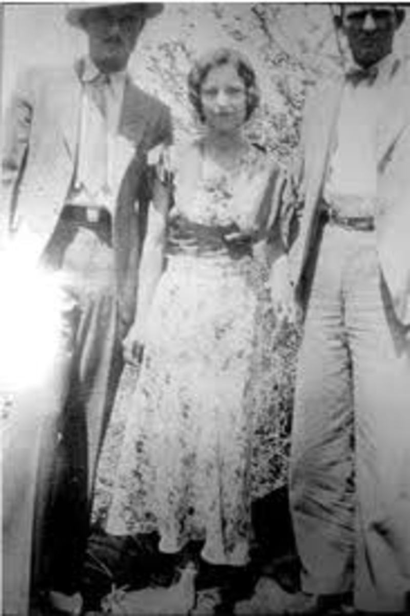 Joe Palmer, Bonnie Parker, and Clyde Barrow