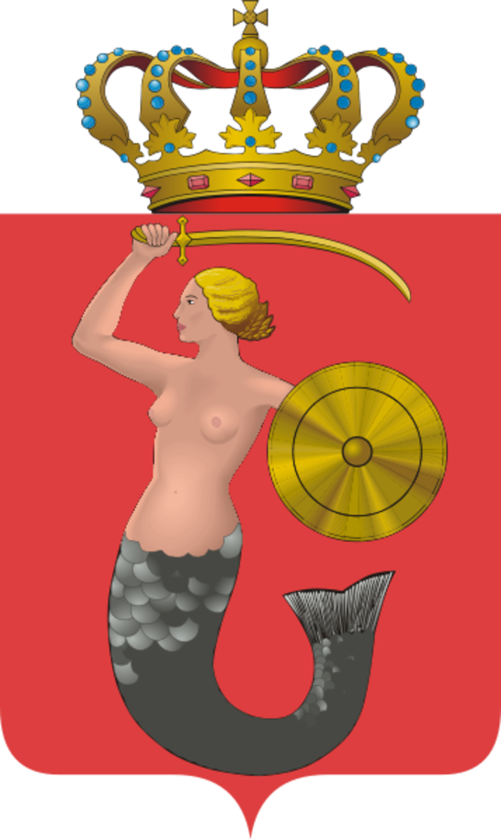 Warsaw Coat-of-arms with a mermaid