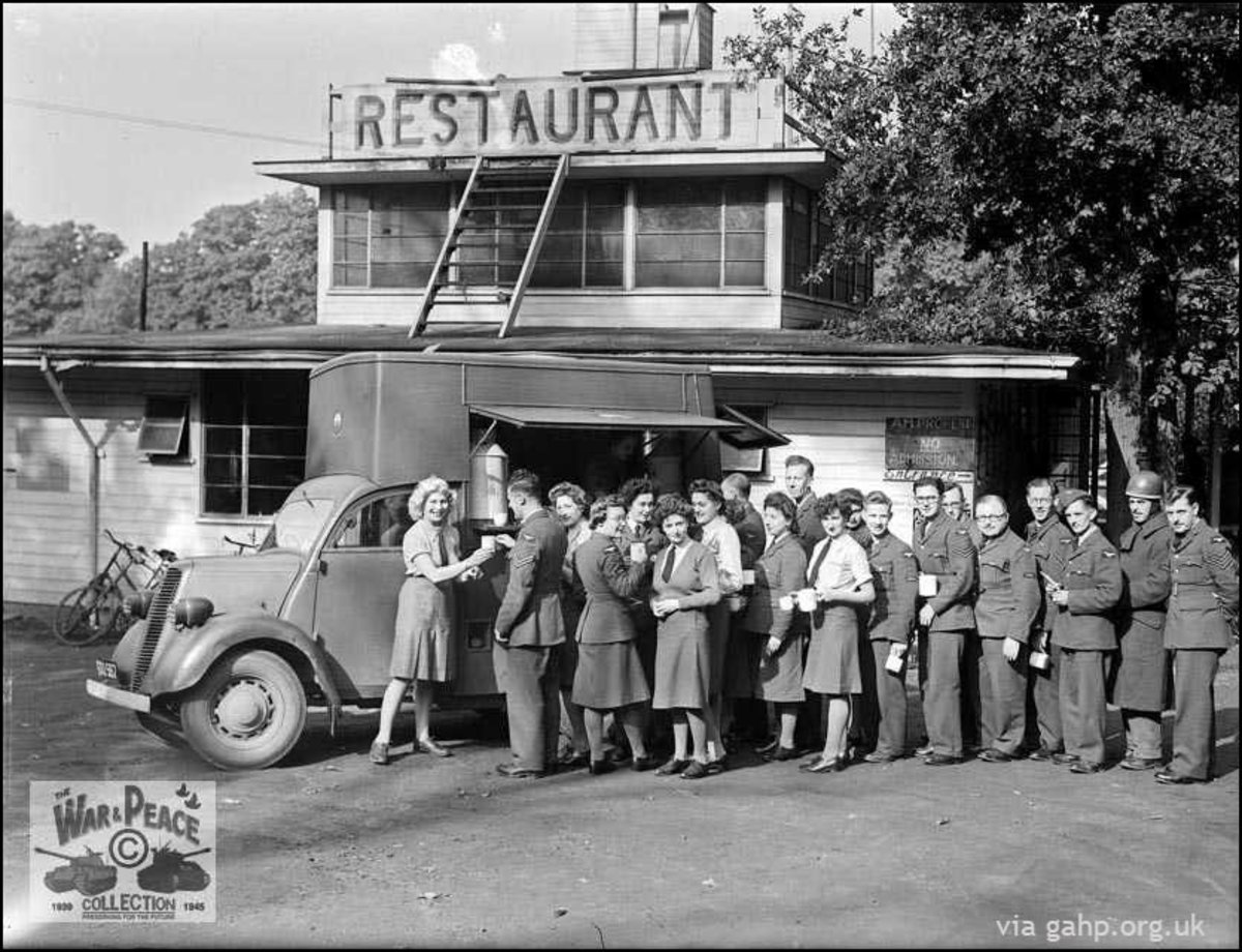 NAAFI mobile canteen at Laughing Waters Gravesend