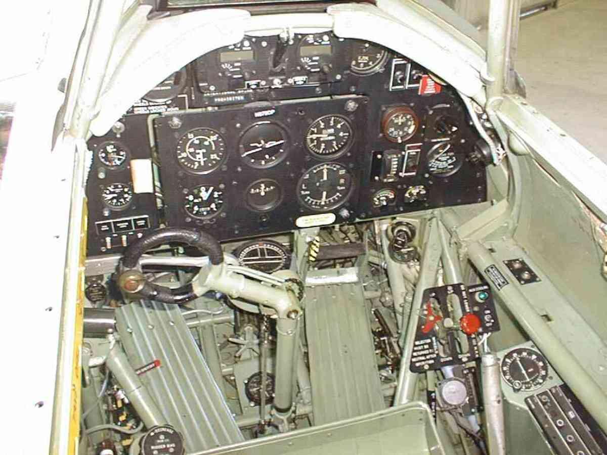 Hawker Hurricane cockpit