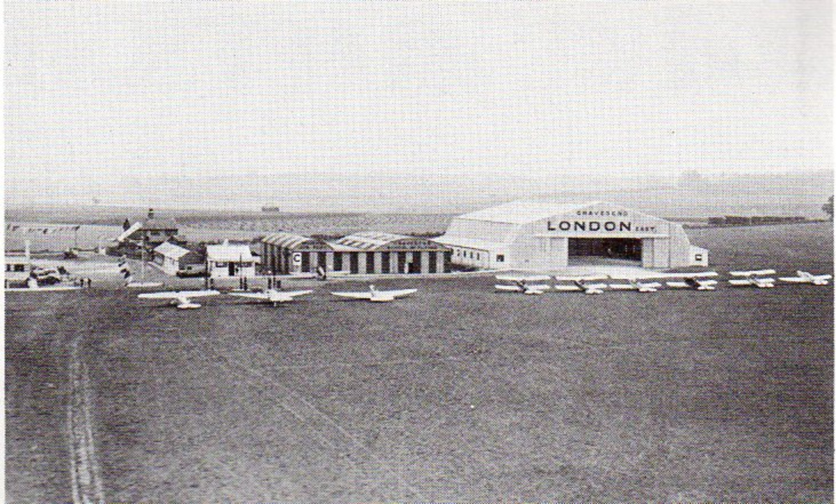 """Gravesend Airfield and """"Battle of Britain"""" fighter base."""