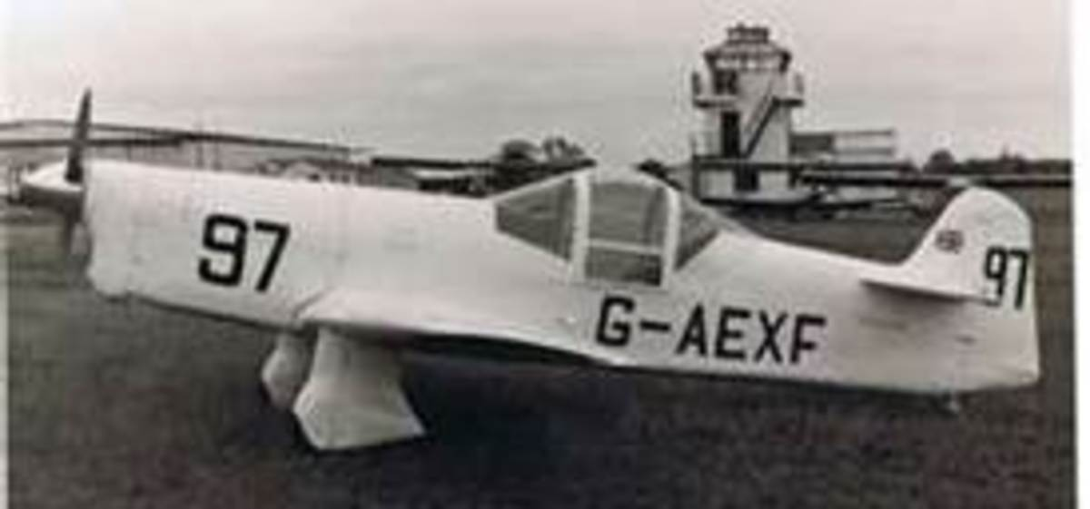 Percival Mew Gull G-AEXF - Cape of Good Hope record holder Alex Henshaw Feb 1939