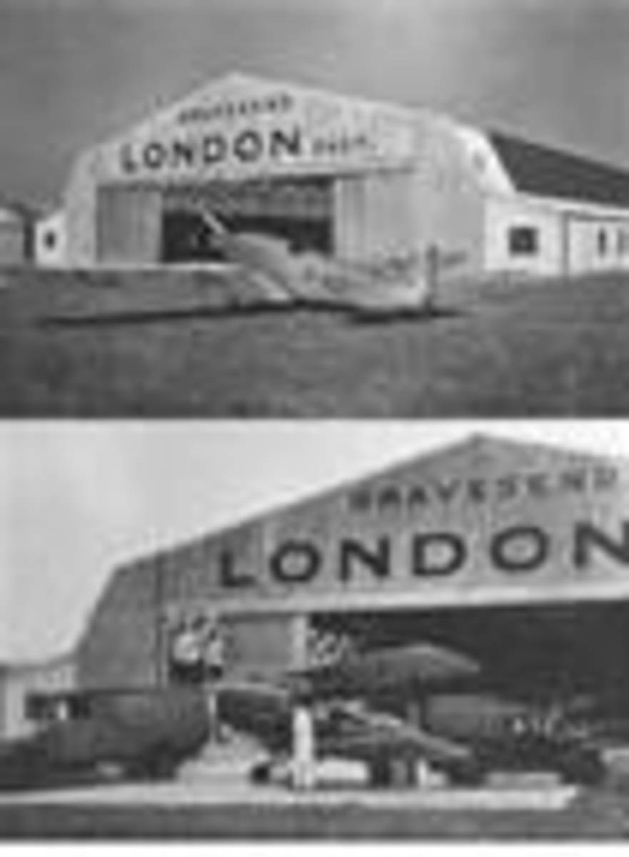 Gravesend LONDON East airport (poor ex newspaper picture)