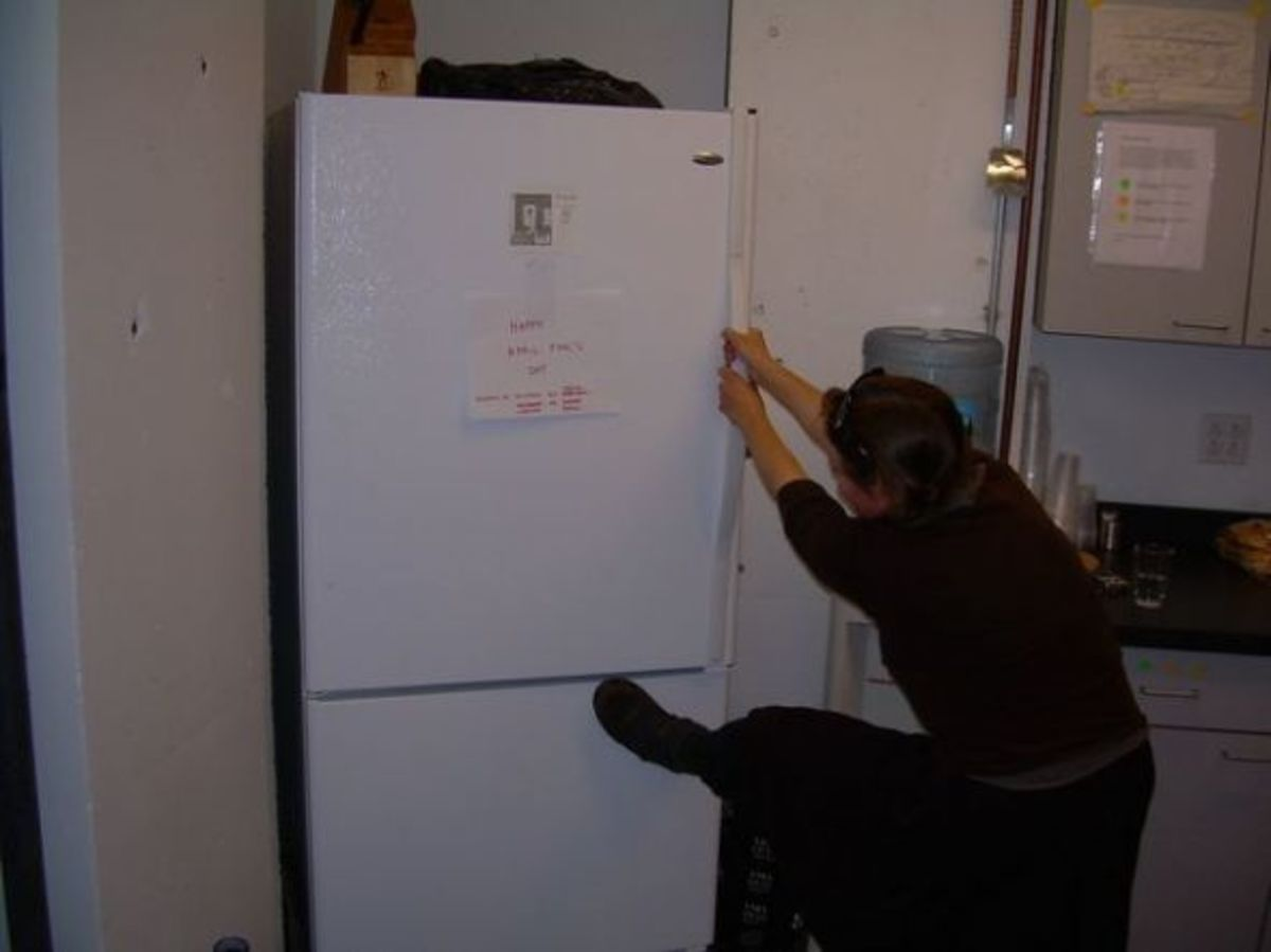 refrigerator with wrong side handle april fools prank