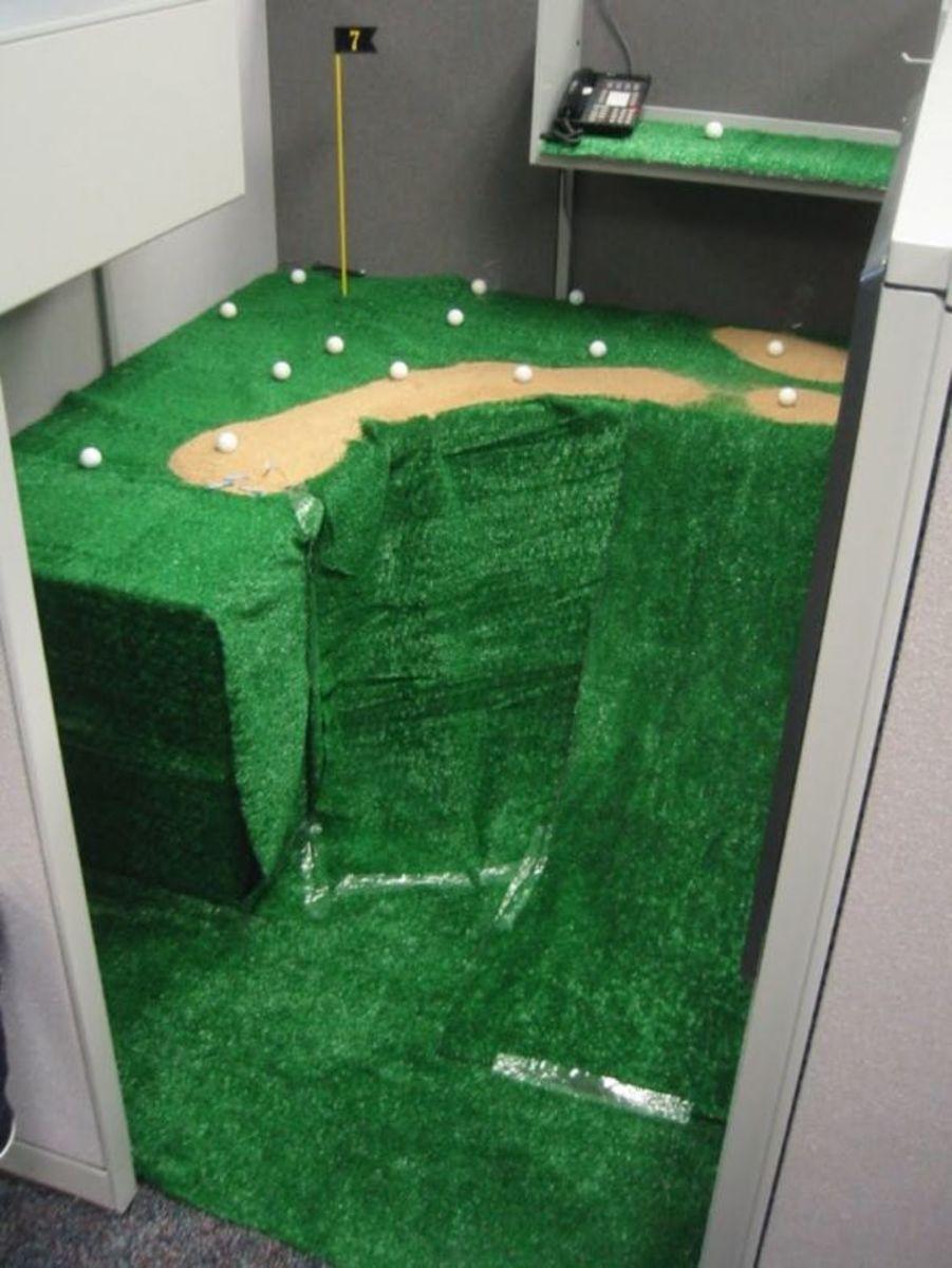 golf office april fools prank