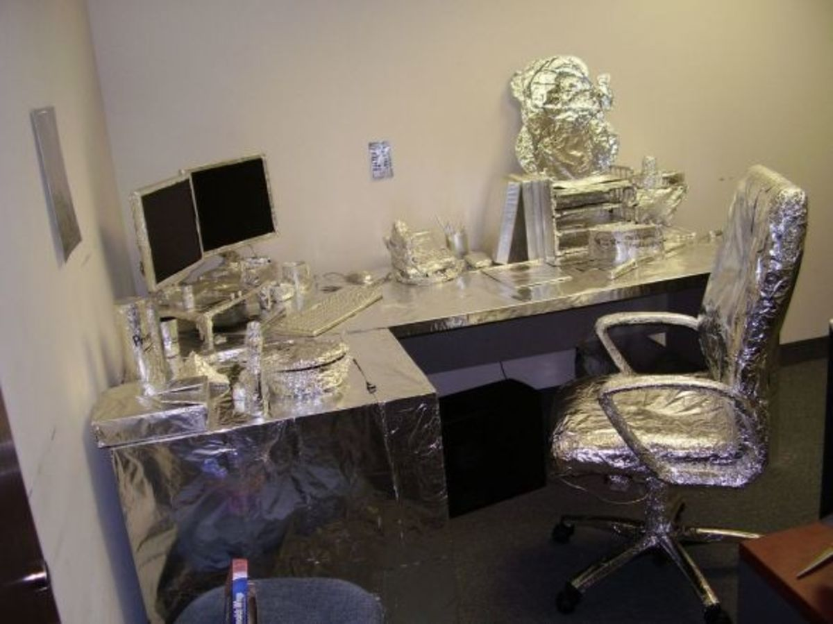 office of the silver surfer tin foil april fools prank
